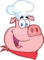 Pig,Chef,Cheerful,Happiness...