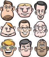 Comic Men Faces stock vectors - Clipart.me