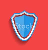 Shield,Flat,Modern,Blue,Pat...