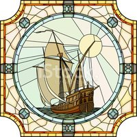 Stained Glass,Caravel,Saili...