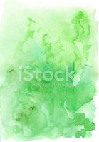 Watercolor Painting,Green C...
