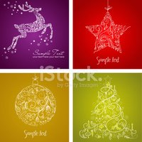 Set,Christmas,Design,Ilustr...