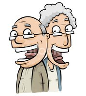 Senior Adult,Couple,Cartoon...
