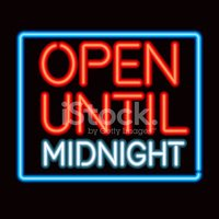 Open Sign,Midnight,Neon Lig...