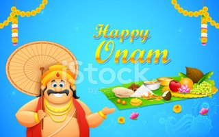 King Mahabali in Onam background