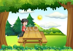 Child,Wood - Material,Bench...