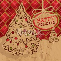 Holiday,Tree,Cut Out,Text,O...