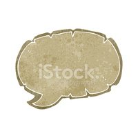 retro cartoon old speech bubble symbol