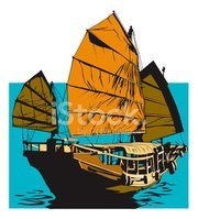 Sailboat,Chinese Culture,Ju...
