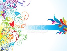 Floral Pattern,Frame,Rainb...