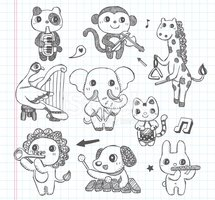Panda,Orchestra,Animal,Penc...