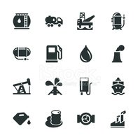 Fuel Industry Silhouette Icons