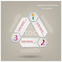 presentation template (3 texts boxes)