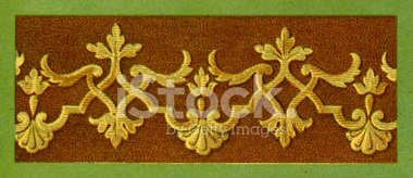 Flat Embroidery Pattern - 17th Century