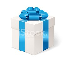Blue,Santa Claus,Gift,Box -...