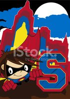 Superhero Learning Letter S Illustration