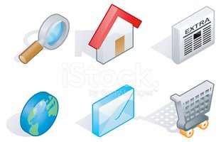 Isometric,Symbol,Newspaper,...
