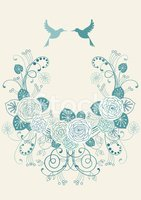 Wreath,Wedding,Bird,Couple,...