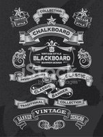 Chalkboard Frames and Banners - Design Elements