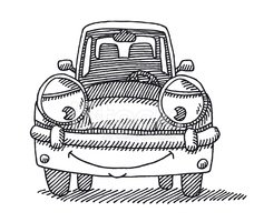 Black And White,Sketch,Car,...