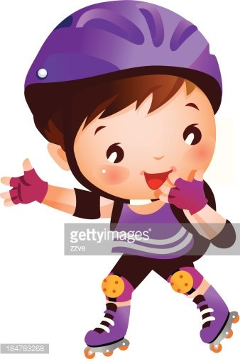 Boy On Rollerblades Stock Vectors Clipartme
