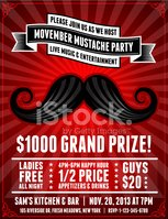 Mustache,Movember,Party - S...