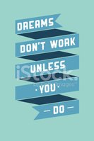 Art poster with motivational phrases