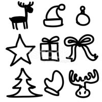 christmas objects collection cartoon simple shapes stock pumpkin clipart black and white free pumpkin pie clipart black and white
