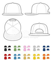 template,Hat,Cap,Vector,Fas...