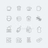 Coffee - Drink,Icon Set,Mor...