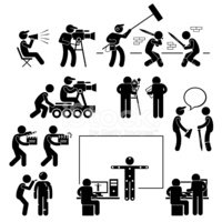 Director Making Filming Movie Production Actor Pictogram