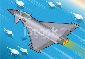 Isometric,Fighter Plane,Arm...