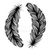 Feather,Tattoo,Black Color,...