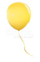 Balloon,Yellow,Vector,Mid-A...