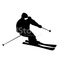 Skiing,Silhouette,Symbol,Ve...