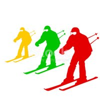 Silhouette,Skiing,Sport,Sym...