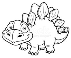 Coloring Book,Stegosaurus,D...