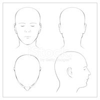 Human Head,Outline,Anatomy,...