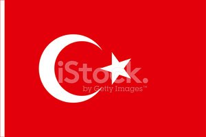 Turkish Flag,Crescent And S...