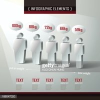 vector abstract 3d man symbol  infographics