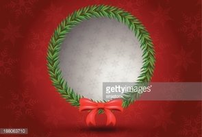 Christmas leaf bunch circle shape