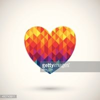 heart symbol with colorful diamond