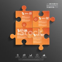 Puzzle,Infographic,Business...