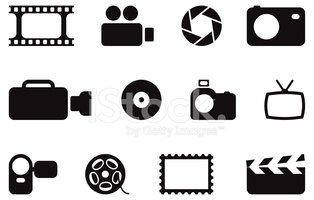 black photo and video icons