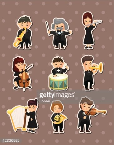music band stickers