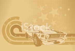 Car,Striped,Retro Revival,S...