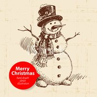 Snowman,Drawing - Art Produ...