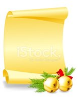 Holiday,Scroll,Paper,Gold,R...