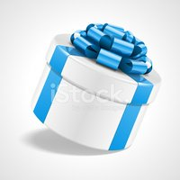 Gift box with bow isolated on white
