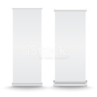Vector set of roll up banner